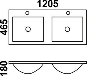 Керамическая раковина Melana MLN-9120ED