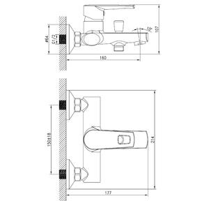 Смеситель для ванны Iddis Runo RUNSB00i02