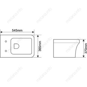Унитаз подвесной MELANA MLN-T2006