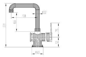 Смеситель для раковины Zorg A 419 U-BR