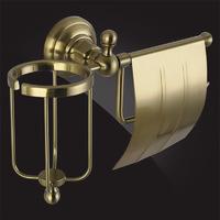 Держатель туалетной бумаги и освежителя воздуха Elghansa PRAKTIC Bronze Accessories PRK-360-Bronze, бронза