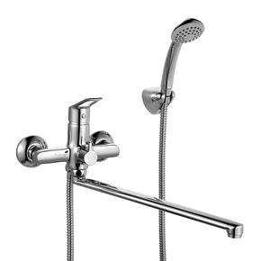 Смеситель для ванны Milardo Amur с длинным изливом AMUSBLCM10