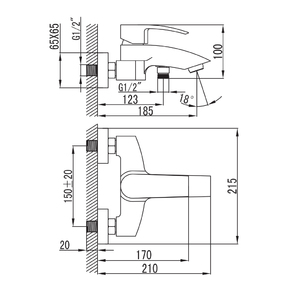 Смеситель для ванны Iddis Vane YA23177C