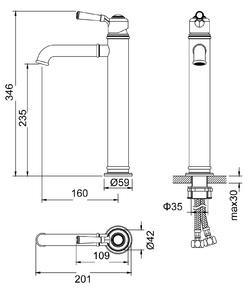 Смеситель для раковины-чаши Arisa 5311/03F Черный