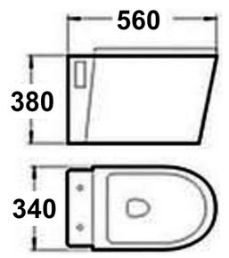 Подвесной унитаз Melana MLN-B2376B