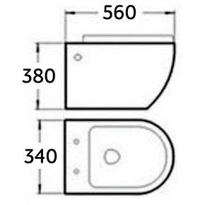 Подвесной унитаз Melana MLN-B2380B