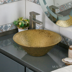 Керамическая раковина Melanа MLN-7020SJ, золото