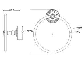 Кольцо для полотенца Zorg AZR 11 SL