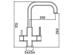 Смеситель под фильтр Zorg SZR-1127 ERGO
