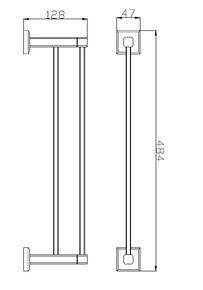 Полотенцедержатель (45 см) Bennberg BA-01S (45cm) Хром