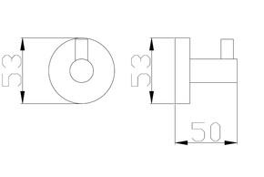 Крючок для полотенца Bennberg BA-05 Хром