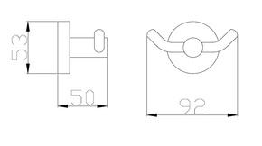 Крючок для полотенца двойной Bennberg BA-25 BRONZE