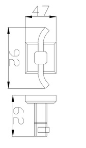 Крючок для полотенца двойной Bennberg BA-25S Хром