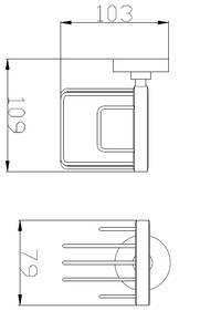 Держатель для освежителя воздуха Bennberg BA-54 Хром