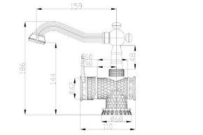 Смеситель для раковины Zorg A 413U-BRONZE