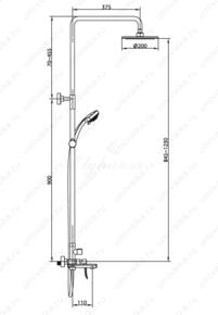 Душевая система Elghansa SHOWER SET 2305599-2L (Set-24),хром