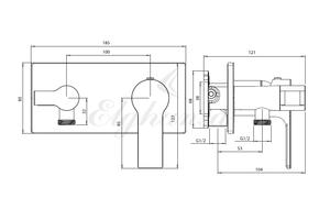 Смеситель Elghansa 15Q0943-White (Set-51) для скрытого монтажа с набором для гигиенического душа