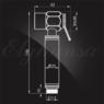 Смеситель Elghansa 24C0784-Bronze (Set-49) для скрытого монтажа с набором для гигиенического душа