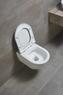 Унитаз подвесной безободковый beWash Bogen 88303201 с сиденьем микролифт белый