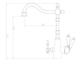 Смеситель под фильтр ZORG ZR 335 YF-33-BR LIGHT