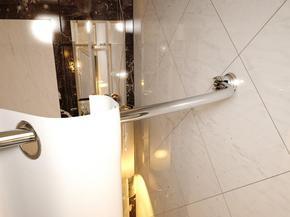 Карниз дуговой для ванной с кольцами Monterno CR-3-Chrome 1260-2080 мм