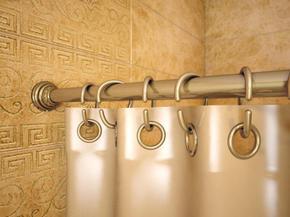 Карниз угловой для ванной с кольцами Monterno CR-4-Bronze 920x920 мм