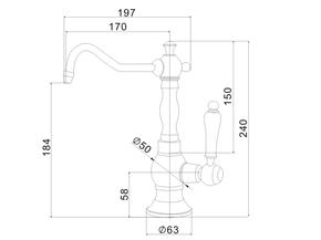 Смеситель под питьевую воду Zorg ZR 01 CR