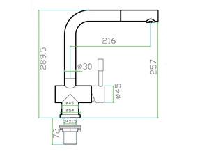 Смеситель для кухни с вытяжной лейкой Zorg SZR-0912 VITIS