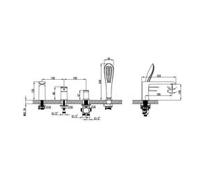 Смеситель для ванны Iddis Calipso на 4 отверстия CALSB42i07