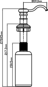 Дозатор Omoikiri OM-01 CH