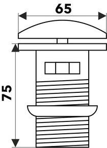 Донный клапан Melana B20 (белый)