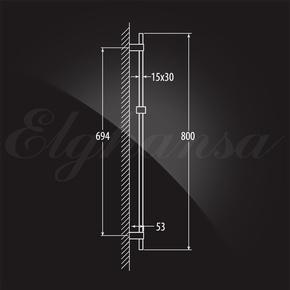 Душевой гарнитур Elghansa SHOWER RAIL SB-55S 800 мм c мыльницей, хром