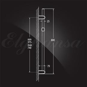 Душевой гарнитур Elghansa SHOWER RAIL SB-75S 800 мм, хром