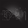 Смеситель Elghansa RoundlLine 34R1183-Black встраиваемый однорычажный, черный