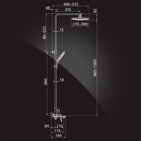Душевая система Elghansa SHOWER SET 2305599-2K (Set-25-New), хром