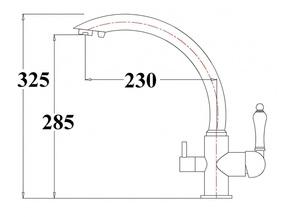 Смеситель под фильтр ZORG ZR 314 YF-33 BR