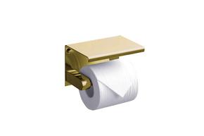 Бумагодержатель с полкой RUSH Edge ED77141 Gold