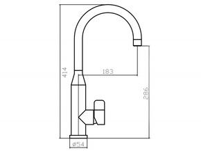 Смеситель для кухни Zorg CLOW SZR-1091A
