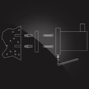 Вешалка с 3 крючками Elghansa CARRINGTON CRG-630 , хром