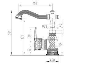 Смеситель для раковины Zorg A 415U-BR
