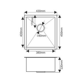 Мойка H4345 MELANA ProfLine 3,0/200 САТИН врезная прямоугольная H4345
