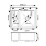 Мойка H575485S MELANA ProfLine 3,0/200 САТИН врезная прямоугольная H575485S