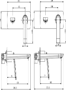 Смеситель для раковины скрытого монтажа Helmi 4071/00-16SM хром-белый