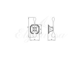 Крючок одинарный Elghansa HERMITAGE HRM-900-Gold