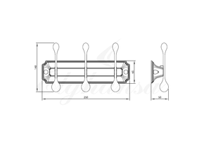 Панель Elghansa HERMITAGE HRM-930-Bronze с 3 круглыми крючками