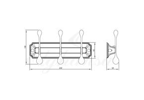 Панель Elghansa HERMITAGE HRM-930-White/Chrome с 3 круглыми крючками