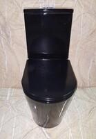 Керамический безободковый унитаз Ceramalux NS-2178-18 черный глянцевый
