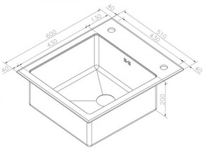 Кухонная мойка ZORG GL-6051-WHITE-Bronze