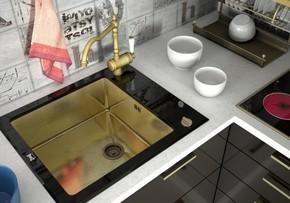 Кухонная мойка ZORG GL-6051-BLACK-Bronze