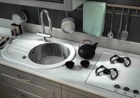 Кухонная мойка ZORG GL-7851-OV-WHITE